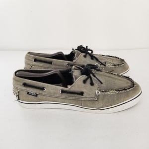 B15 VANS Zapato Del Barco 2-Eye Boat Shoes Gray La